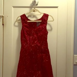 New with tags Burgundy aline dress w gold pattern